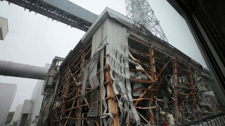 Sección de la central nuclear de Fukushima afectada por el terremoto y el tsunami de 2011
