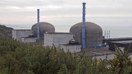 La central nuclear de la ciudad francesa de Flamanville.