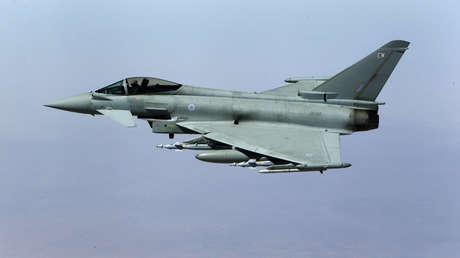 Un caza Typhoon de la Fuerza Aérea del Reino Unido en una misión en Irak, el 21 de septiembre de 2016.