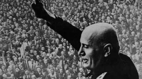 El dictador fascista de Italia, Benito Mussolini