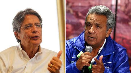 Los dos principales candidatos a la presidencia de Ecuador, Guillermo Lasso (izquierda) y Lenín Moreno.