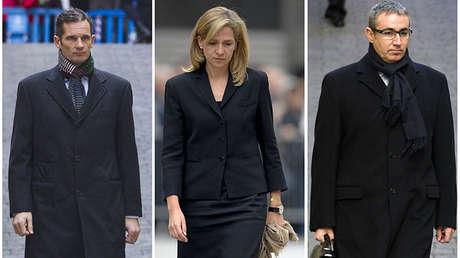 Inaki Urdangarin en Palma de Mallorca, la princesa Cristina de España en Catedral de Barcelona, Diego Torres en Palma de Mallorca