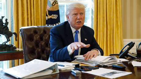 El presidente de Estados Unidos, Donald Trump, en Washington, EE.UU., el 23 de febrero de 2017.