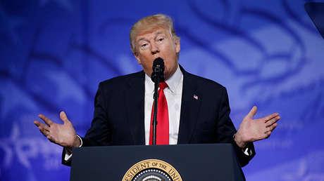 El presidente de Estados Unidos, Donald Trump, en National Harbor, Maryland, EE.UU., el 24 de febrero de 2017.