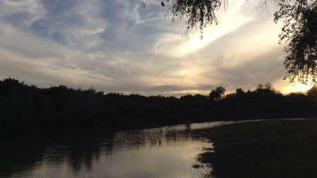Vista del río Yaqui en la actualidad
