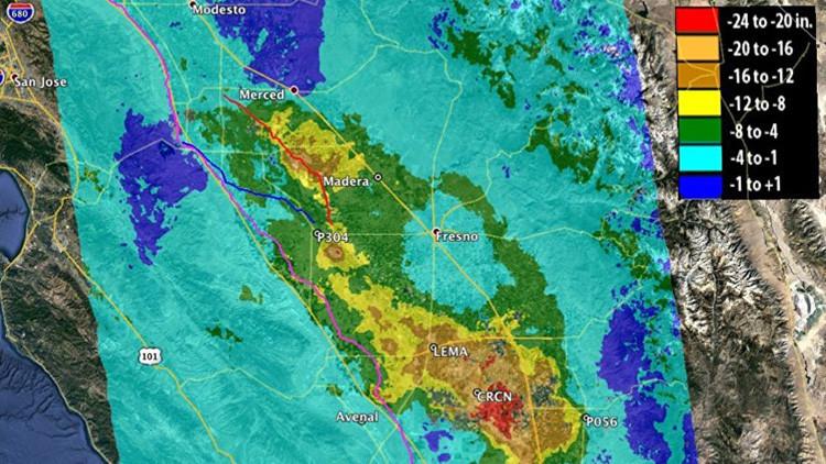 La NASA lo confirma: California se hunde y pone en peligro a millones de personas