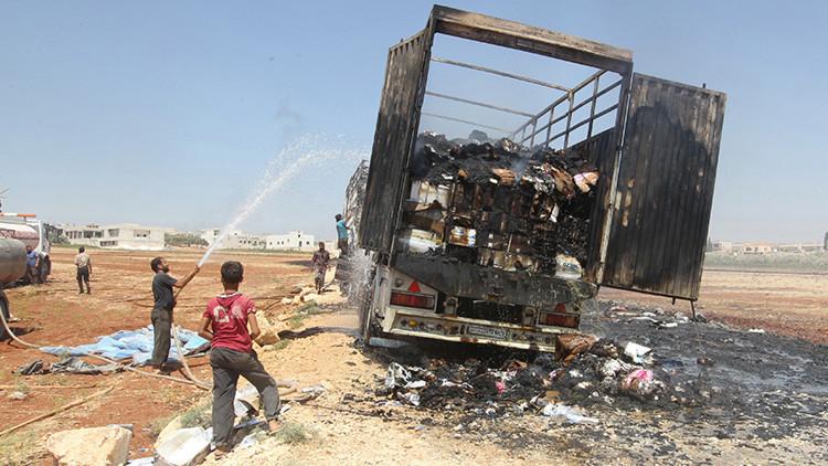La ONU exime a Rusia de culpa por el ataque a un convoy humanitario en Siria