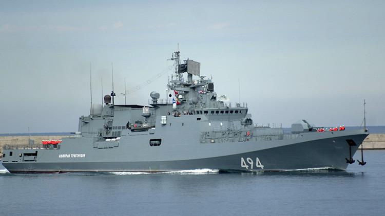 La fragata rusa Admiral Grigoróvich llega al Mediterráneo con destino a Siria