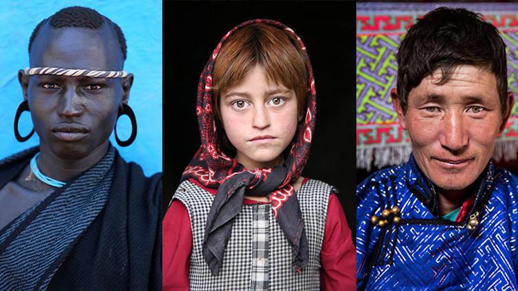 'El mundo en rostros': impresionantes retratos de gentes de todo el planeta