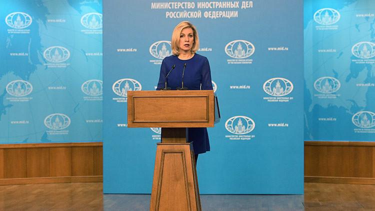 """Zajárova a los reporteros de CNN: """"Dejen de difundir mentiras y noticias falsas"""""""