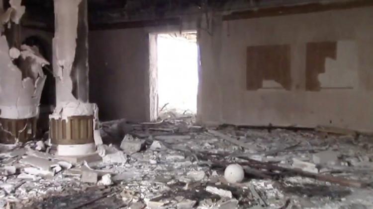 Video: Así es la mansión del reino catarí usada por yihadistas del Estado Islámico en Palmira