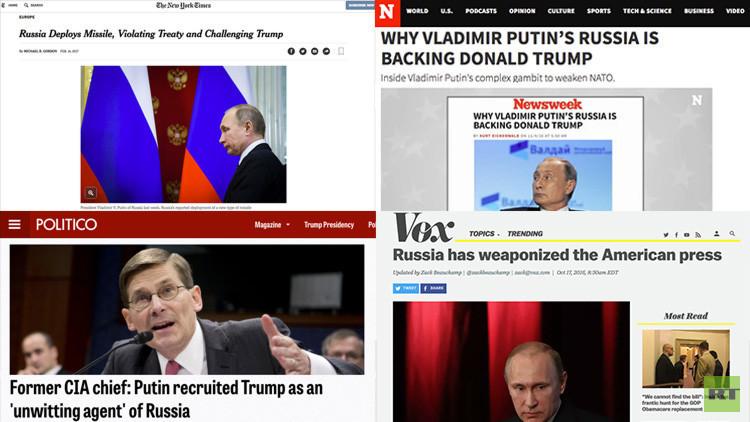 En qué fallan los medios de EE.UU. que hablan de Rusia y Putin