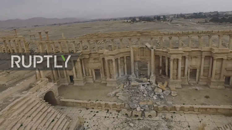 Exclusivo: Nuevo video muestra el destrozo del centro antiguo de Palmira causado por el EI