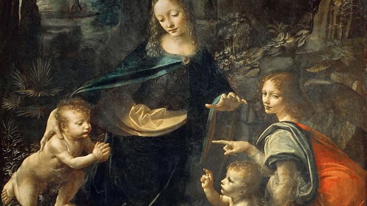 Descubren un mensaje oculto en un cuadro de Da Vinci (FOTOS)