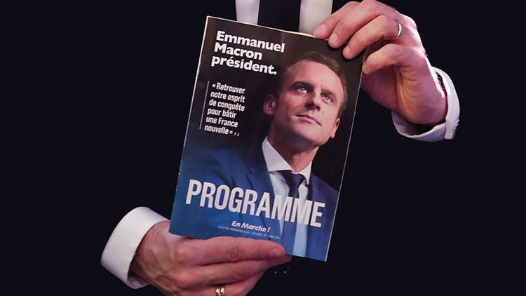 """""""Campaña electoral a base de mentiras"""": RT responde a las acusaciones del francés Emmanuel Macron"""