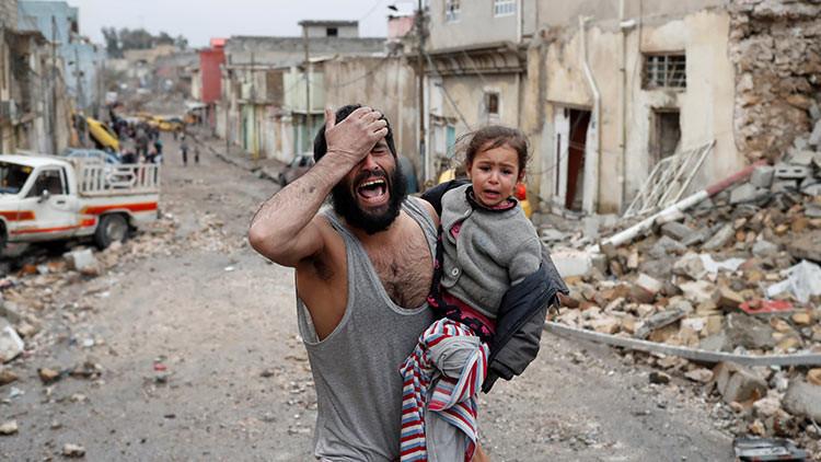Del yugo del EI a la libertad: Desgarradoras imágenes del drama de Mosul