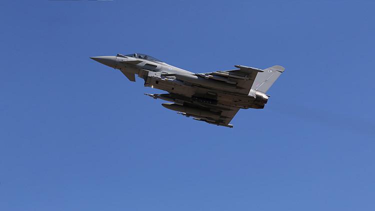 Foto: Cazas británicos despegan e interceptan un avión de carga húngaro