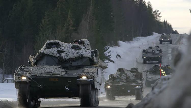 VIDEO: 8.000 soldados de la OTAN llevan a cabo ejercicios cerca de la frontera entre Noruega y Rusia
