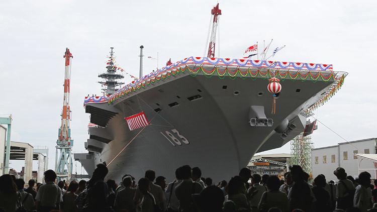 Japón mandará su mayor portahelicópteros al mar de la China Meridional