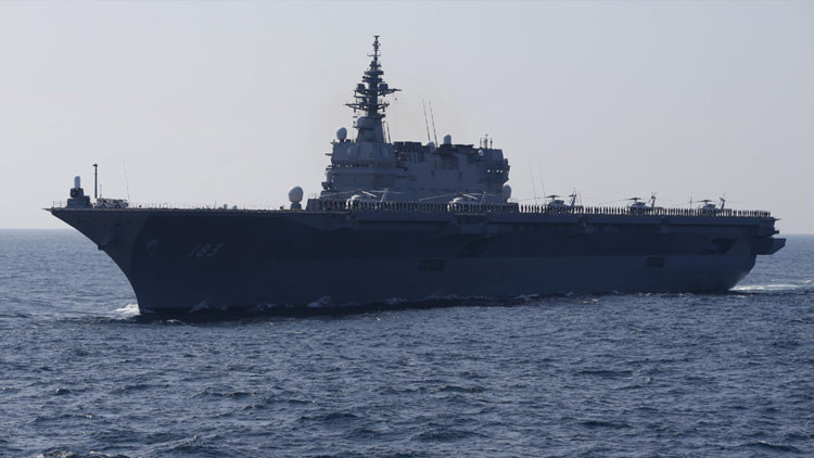 China advierte a Japón por el portahelicópteros que planea mandar al mar de la China Meridional