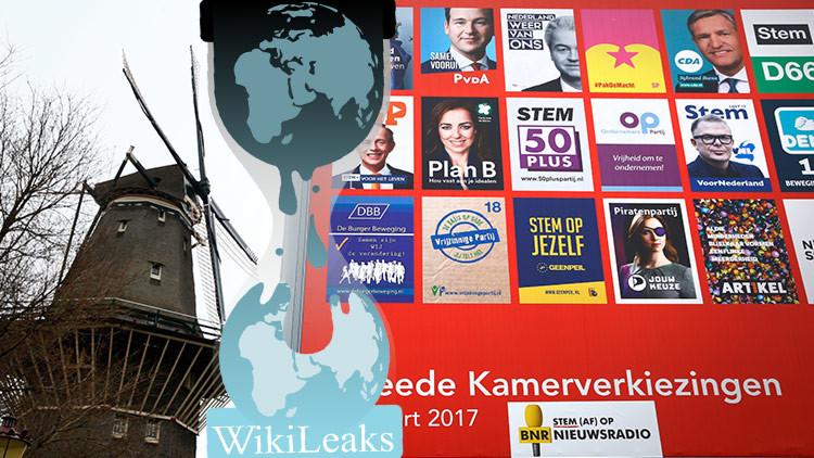 WikiLeaks publica más de 3.000 documentos sobre los candidatos neerlandeses en la víspera electoral