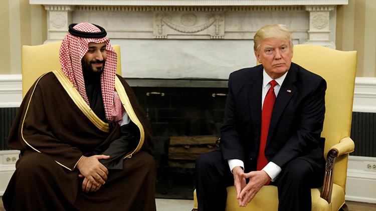 """""""Histórico"""": Trump se reúne con el príncipe de Arabia Saudita en Washington"""