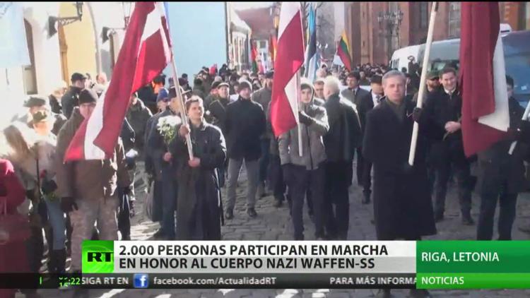 Dos mil personas participan en una marcha en honor al cuerpo nazi Waffen-SS en la capital de Letonia