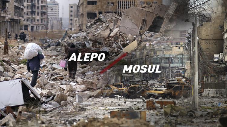 Alepo y Mosul, dos 'cunas' del terrorismo con destinos muy diferentes