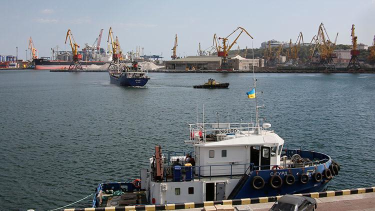 Cuatro buques de la OTAN entran en el puerto ucraniano de Odesa (FOTOS)