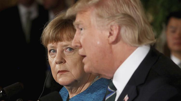 """""""Tenemos algo en común"""": La cara de Merkel tras una broma de Trump sacude la Red (MEMES)"""