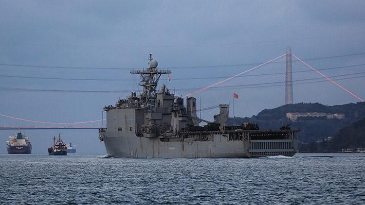 Un buque de asalto anfibio de EE.UU. entra en el mar Negro (FOTOS)
