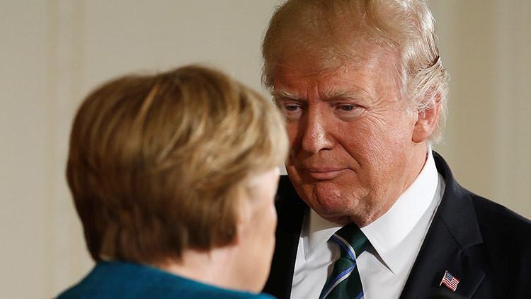 La Casa Blanca explica el incidente del apretón de manos entre Merkel y Trump