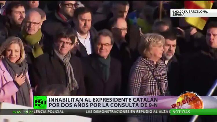 Condenan al expresidente de la Generalidad, Artur Mas, a dos años de inhabilitación política