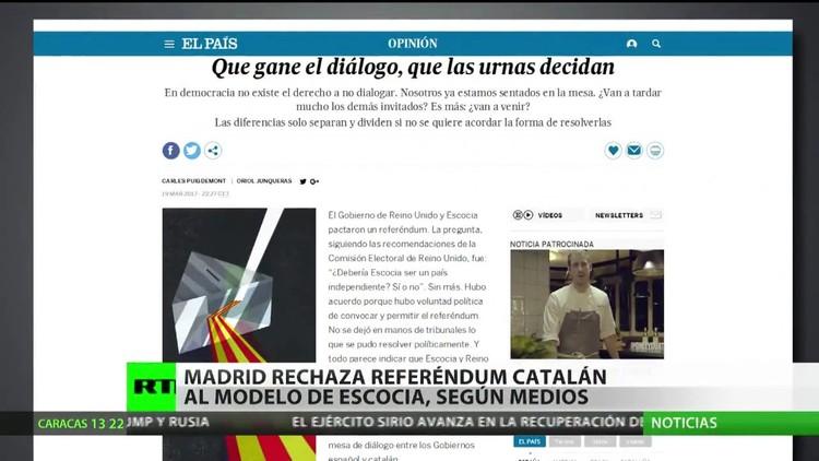 Madrid rechaza un referéndum catalán al estilo de Escocia