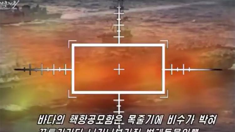 VIDEO: Corea del Norte muestra a EE.UU. cómo destruiría sus portaaviones y bombarderos