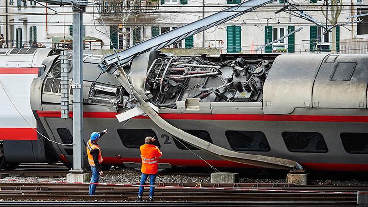 Un tren italiano descarrila en Suiza dejando varios heridos