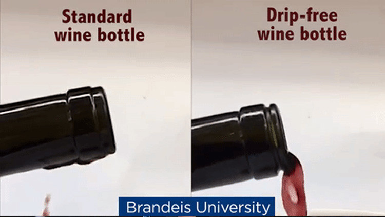 Video: Científico inventa una revolucionaria botella de vino que no gotea