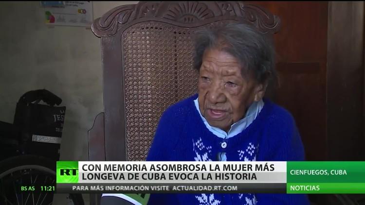 La mujer más longeva de Cuba evoca la historia con una memoria asombrosa