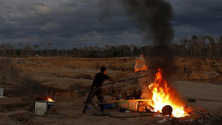 El negocio 'sucio' de la minería ilegal en Perú, en imágenes