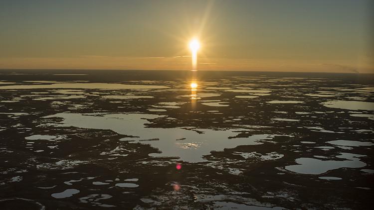 Descubren 200 lagos extraños llenos de gas metano en el ártico siberiano