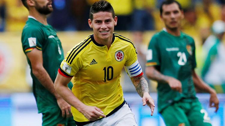 Foto: Este gesto del futbolista James Rodríguez indigna a Colombia