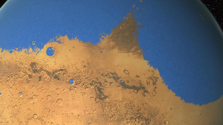 Un asteroide podría haber causado tsunamis con olas de 150 metros en Marte