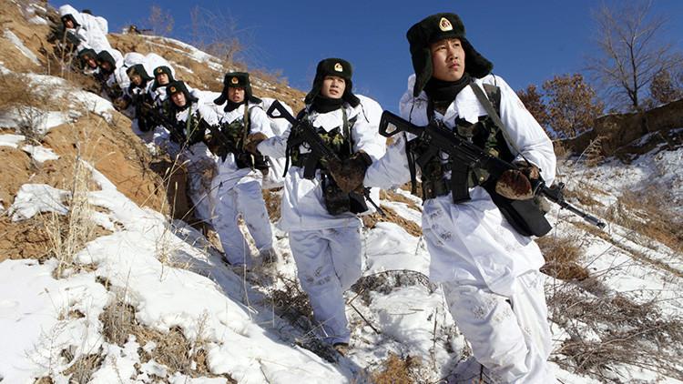 China entrena a sus soldados en su frontera con Corea del Norte