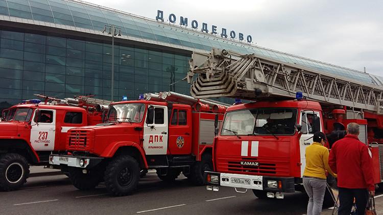 Camión de bomberos deja un muerto y cuatro heridos tras un atropello cerca de un aeropuerto de Moscú