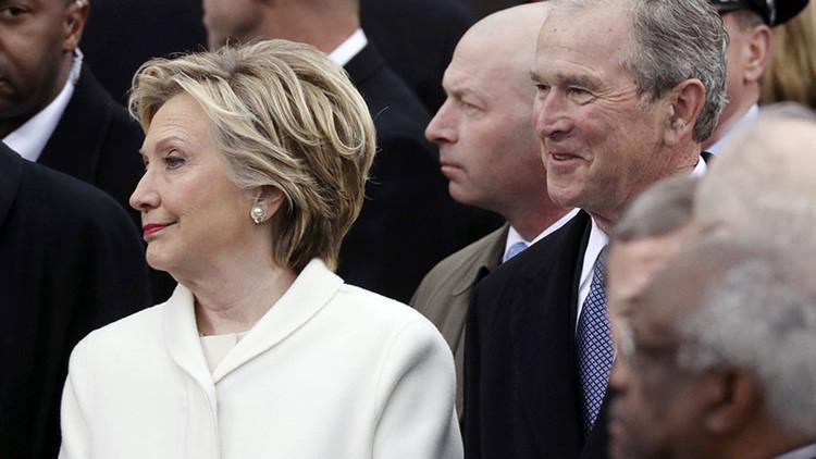 Revelan la muy poco protocolaria opinión de George W. Bush sobre el discurso de investidura de Trump