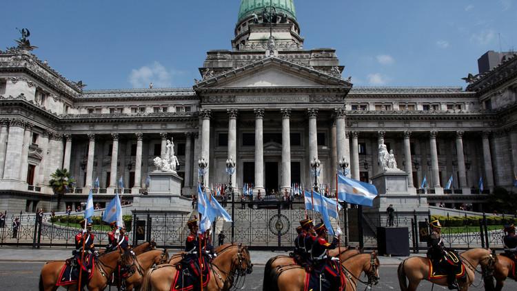 Incendio en el Congreso Nacional argentino (FOTO)