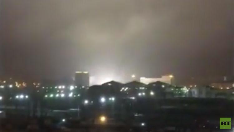 Un 'ojo en llamas' se cierne sobre una ciudad en Rusia (VIDEO)