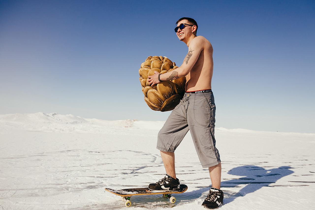 Bikini siberiano en la nieve