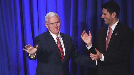 Mike Pence y Paul Ryan, vicepresidente y presidente de la Cámara de Representantes de EE.UU., respectivamente