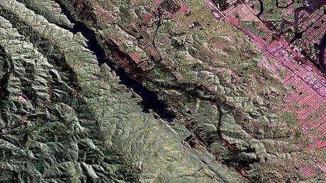 La falla de San Andrés en el área de la bahía de San Francisco, 17 de junio de 2009
